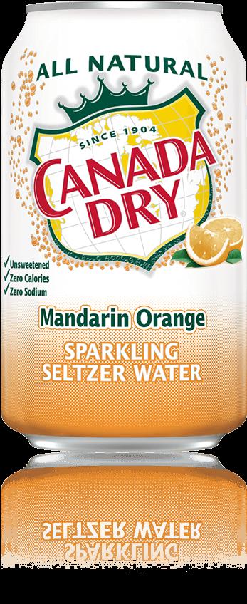 Canada Dry Mandarin Orange Sparkling Seltzer Water